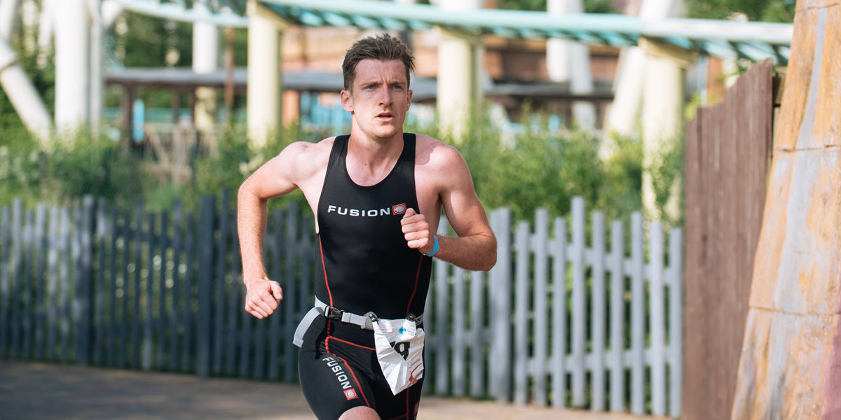 triathlete running thorpe park triathlon