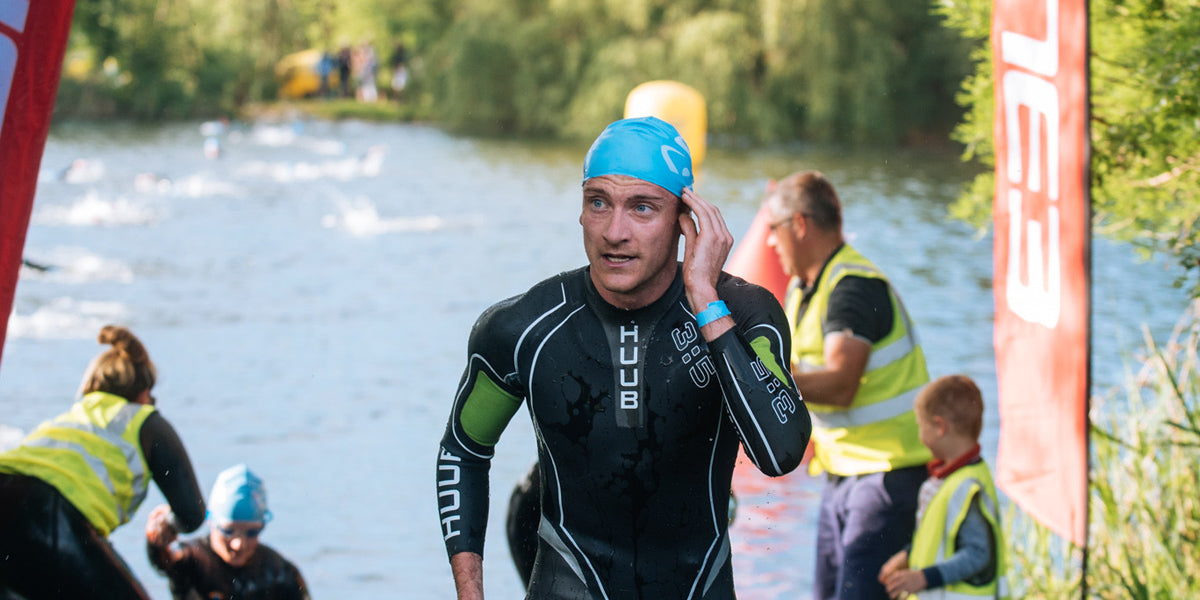 triathlete swim open water lake