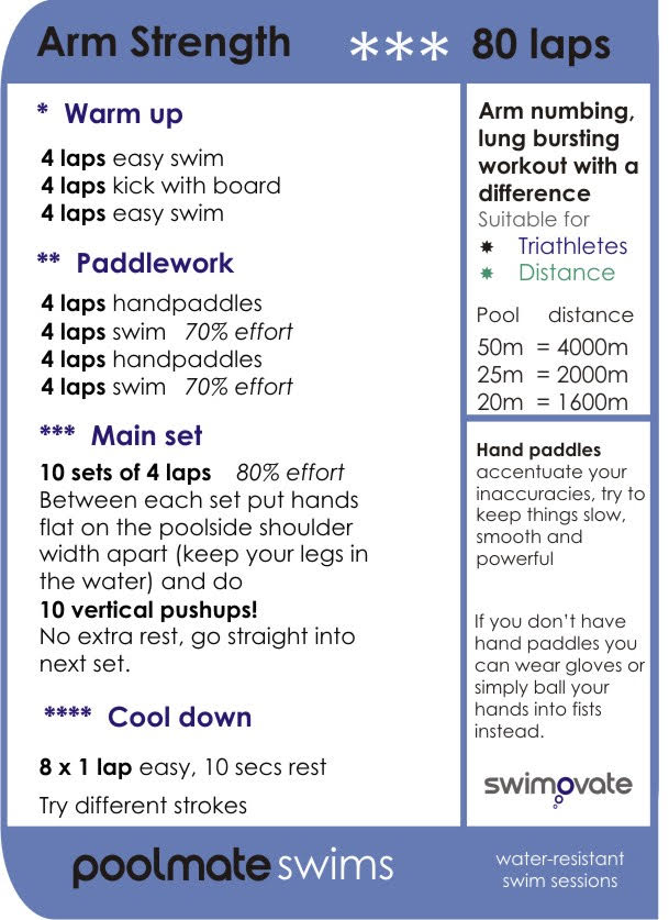 swimming workout training sessions swimmers