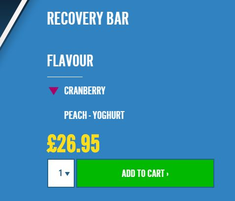 Vifit high protein recovery bar price