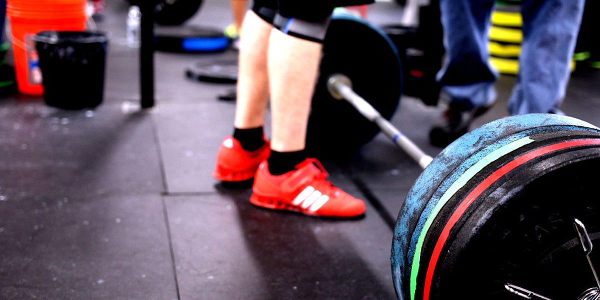 Weightlifting shoes training gym