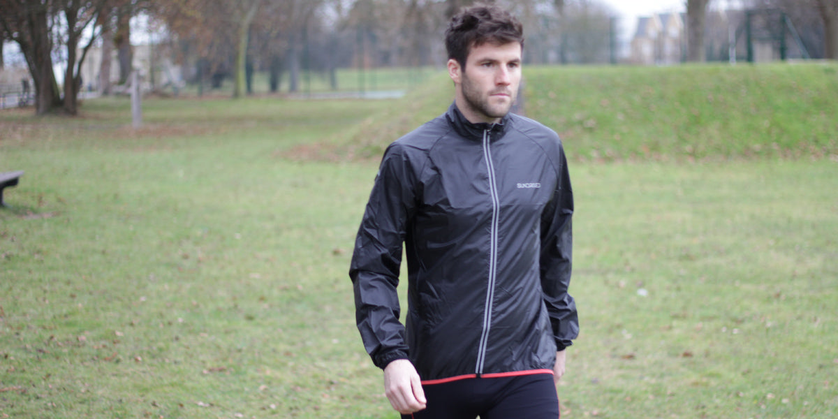 winter training running jacket waterproof Sundried mens activewear