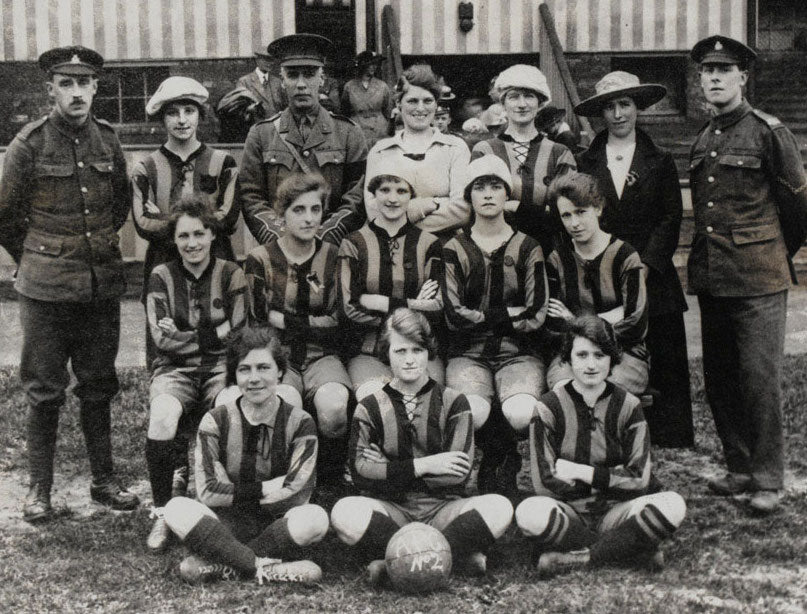 history of women's football WWI historic
