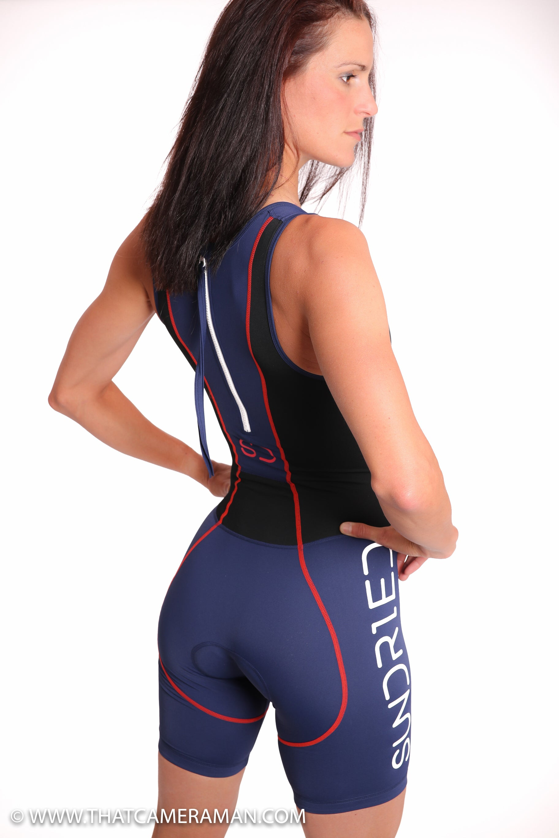 womens tri suit triathlon model