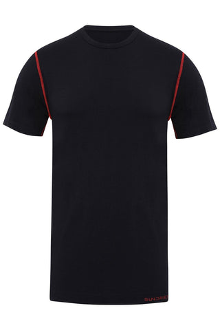 Sundried Eco Tech® Men's Fitness Top T-Shirt XL Black SD0136 XL Black Activewear