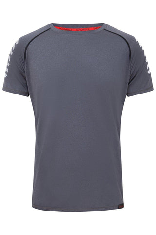 Sundried Eiger Men's T-Shirt T-Shirt S Grey SD0147 S Grey Activewear