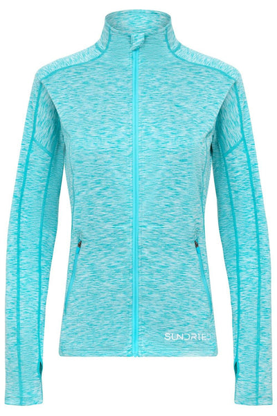 Sundried Pace Women's Long Sleeve Top Sweatshirt L Blue SD0153 L Blue Activewear