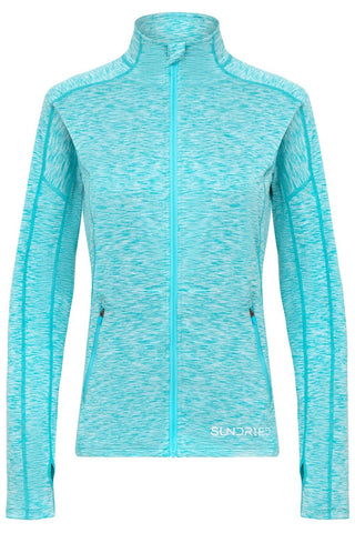 Sundried Pace Women's Long Sleeve Top Long Sleeved Top L Blue SD0153 L Blue Activewear