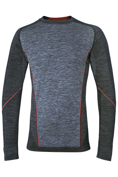Sundried Grand Combin Training Top Long Sleeve Top S Black w Red SD0033 S Red Activewear