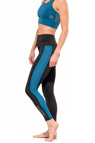 Sundried Core Women's Leggings Leggings L Blue SD0158 L Blue Activewear