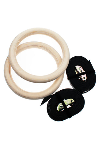 Sundried Wooden Gymnastic Rings - Gymrings Accessories Default SDGYMRINGS Activewear