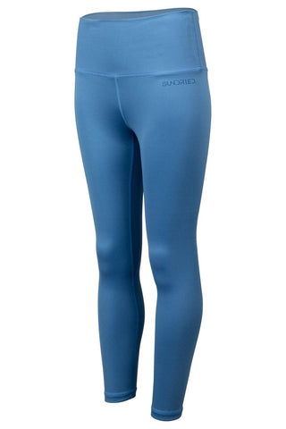 Sundried Womens 7/8 Leggings Leggings L Blue SD0233 L Blue Activewear