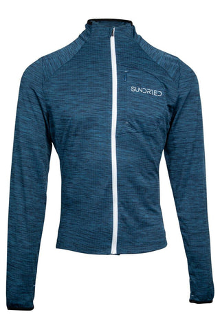 Sundried Men's Long Sleeved Bike Running Hybrid Top Sweatshirt M Blue SD0285 M Grey Activewear