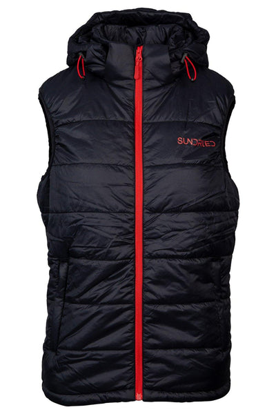 Sundried Mens Recycled Quilted Gilet Coat S Black SD0308 S Black Activewear