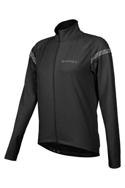 Sundried Equipe Womens Bike Jacket Cycle Jacket L Black SD0344 L Black Activewear