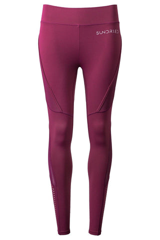 Sundried Women's Seamless Leggings Leggings XL Plum SD0204 XL Plum Activewear