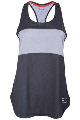 Sundried Piz Fora Women's Training Vest Vest S Dark Grey SD0054 S Black Activewear