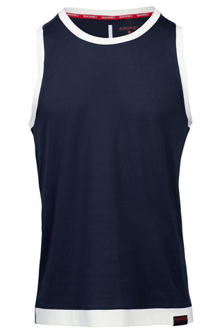 Sundried Legacy Men's Running Vest Vest L Navy SD0262 L Navy Activewear