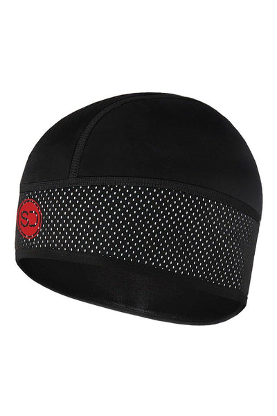 Sundried Unisex Cycle Skull Cap Hat Default Black SD0173 Black Activewear