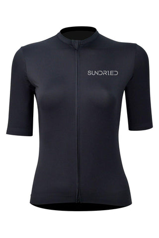 Sundried Stealth Women's Cycle Jersey Cycle Jersey L Black SD0296 L Black Activewear