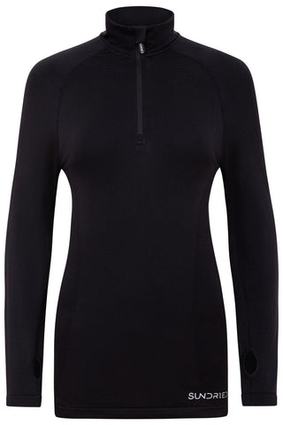 Sundried Threshold Women's Half Zip Jacket Sweatshirt XL Black SD0161 XL Black Activewear