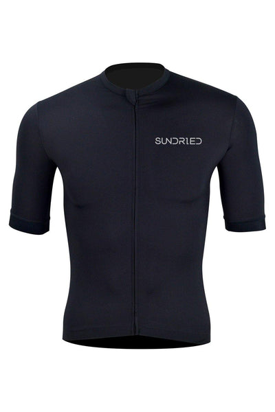 Sundried Stealth Men's Cycle Jersey Cycle Jersey XL Black SD0295 XL Black Activewear