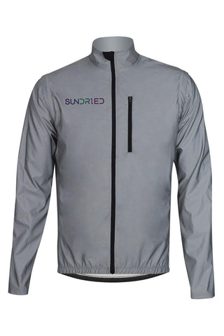 Sundried Ultra High Visibility Cycle Jacket Cycle Jacket S Silver SD0303 S Reflective Activewear