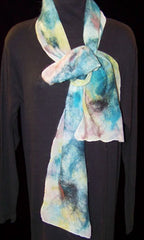 Felted Silk Scarf | Susan Waldron Art