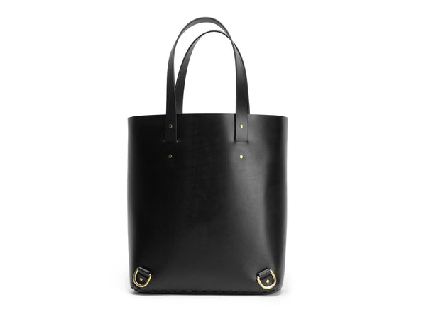 BRAID shopper, Black,  Shopper, leather goods, handmade, Copenhagen - Leatherprojects