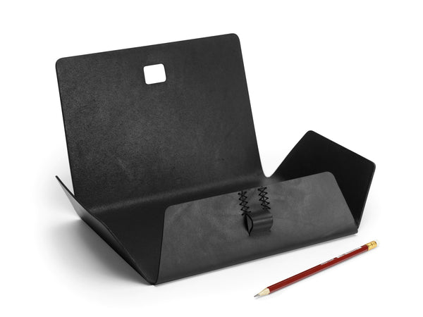PEN-LOCK laptop cover, Black,  Laptop Cover, leather goods, handmade, Copenhagen - Leatherprojects