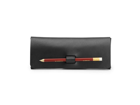 PEN-LOCK pencil case, Black,  Pencil case, leather goods, handmade, Copenhagen - Leatherprojects