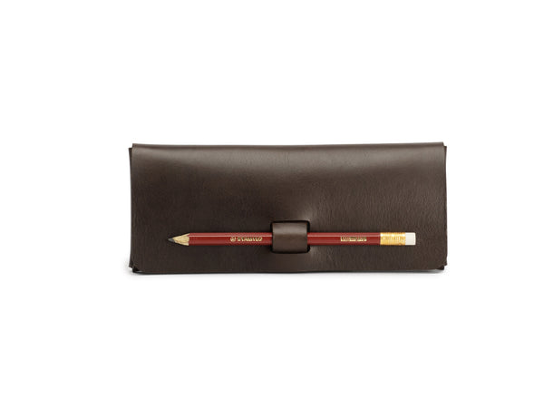 PEN-LOCK pencil case, Brown,  Pencil case, leather goods, handmade, Copenhagen - Leatherprojects