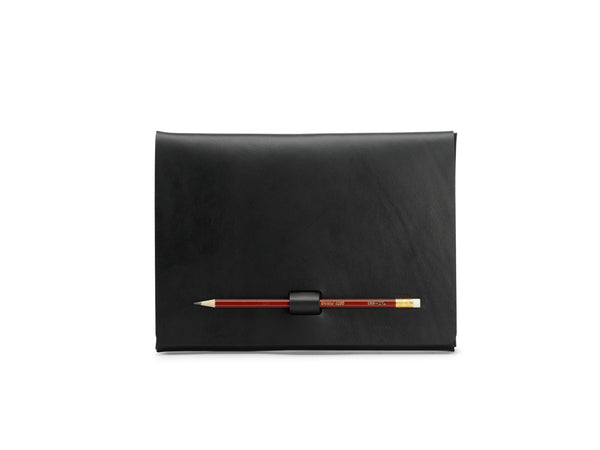 PEN-LOCK tablet cover, Black,  iPad Cover, leather goods, handmade, Copenhagen - Leatherprojects