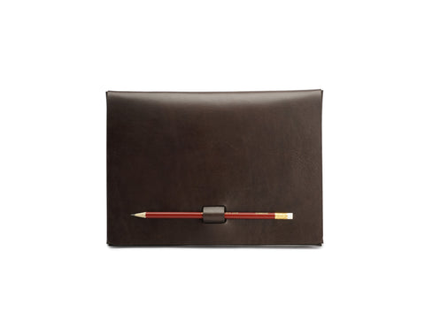 PEN-LOCK tablet cover, Brown,  iPad Cover, leather goods, handmade, Copenhagen - Leatherprojects