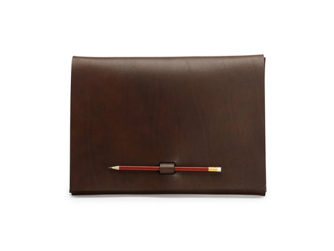 PEN-LOCK laptop cover, Brown,  Laptop Cover, leather goods, handmade, Copenhagen - Leatherprojects