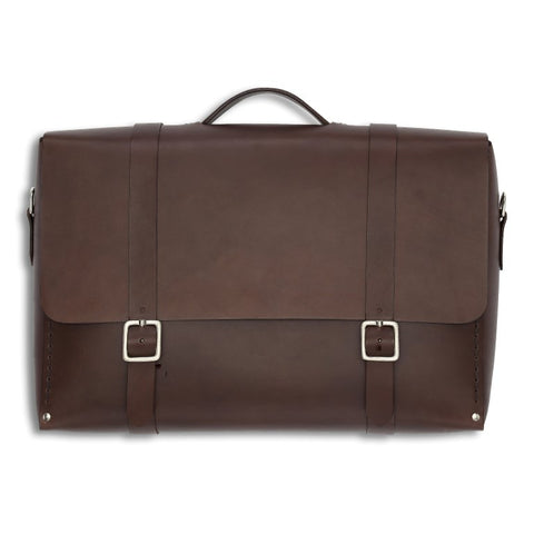 Messenger Large, Brown,  Mens Bags, leather goods, handmade, Copenhagen - Leatherprojects
