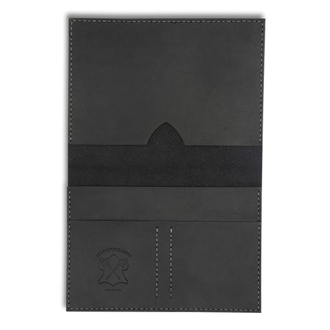 Passport Wallet, Black,  Wallets, leather goods, handmade, Copenhagen - Leatherprojects