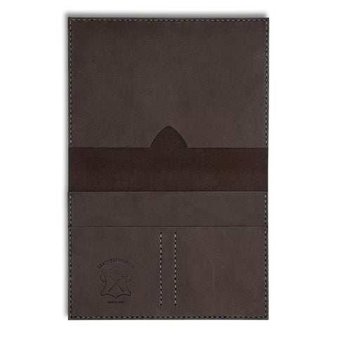Passport Wallet, Brown,  Wallets, leather goods, handmade, Copenhagen - Leatherprojects