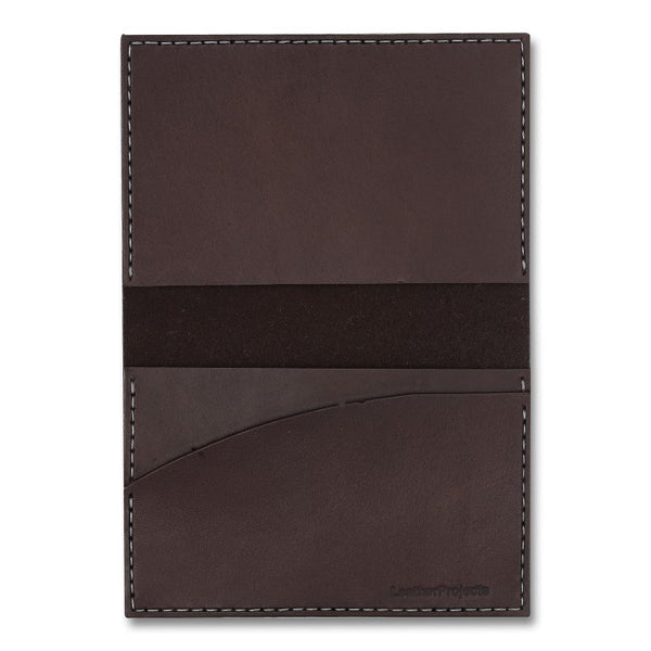 Bi-Fold Wallet, Brown,  bi-fold wallet, leather goods, handmade, Copenhagen - Leatherprojects