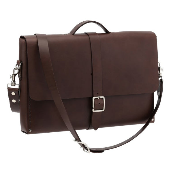 Messenger Small, Brown,  Mens Bags, leather goods, handmade, Copenhagen - Leatherprojects