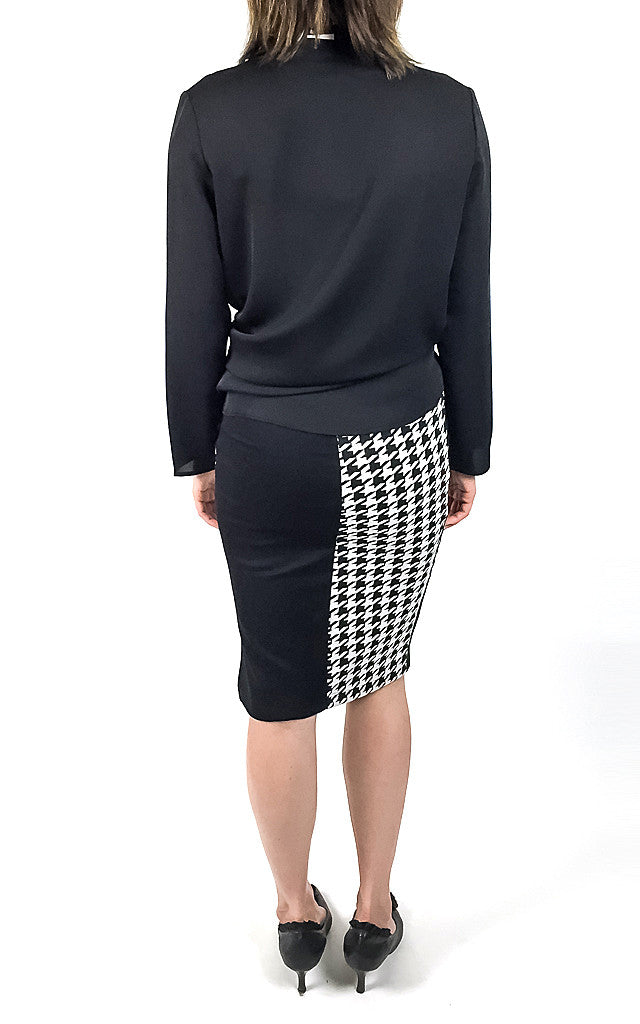 Lily Pencil-Block Skirt
