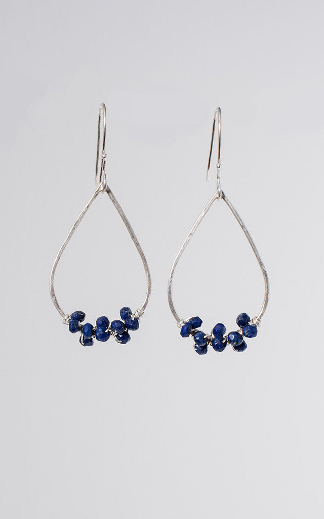 Bela Earrings in Lapis