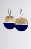 Cerrillos Earrings in Blue Enamel