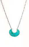 Patina Crescent Necklace