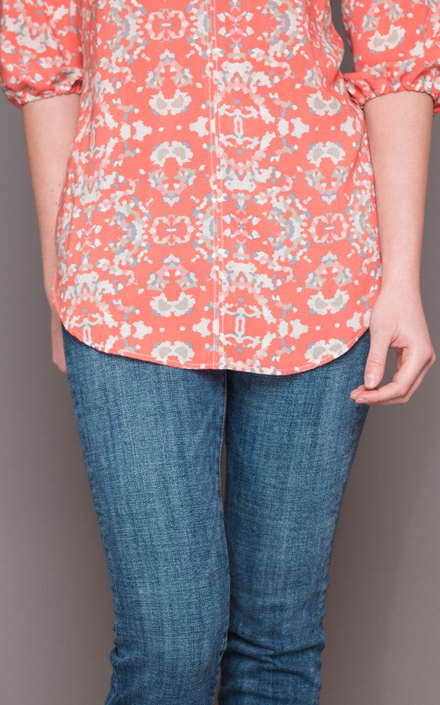 May Top in Coral Confetti