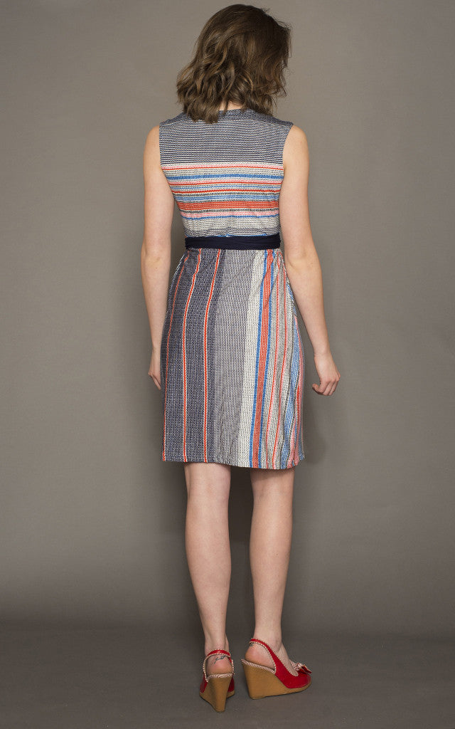 Donna Dress in Carnival Stripe