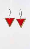 Geometric Enamel Earrings