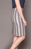 Muriel Skirt in Metallic Stripes