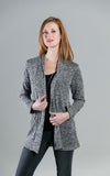 Jillian Cardigan in Black Marl