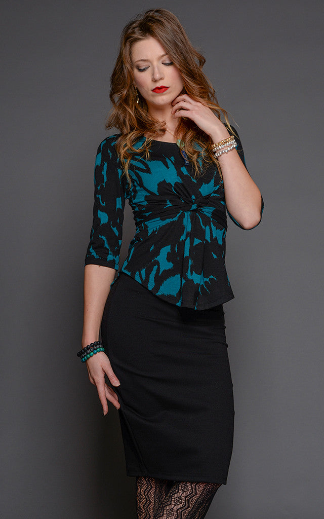 Lily Pencil Skirt in Black